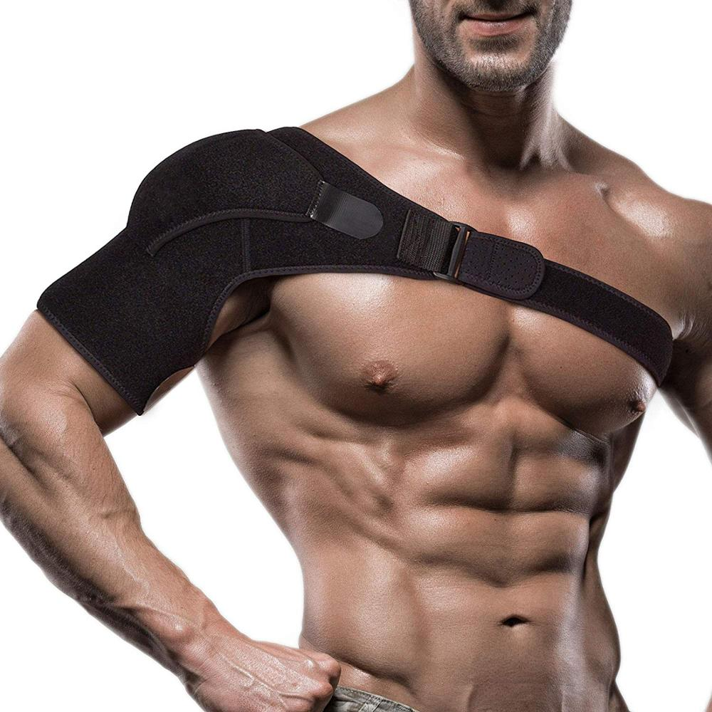 Adjustable Left/Right Shoulder Support Bandage Protector Brace Joint Pain Injury Shoulder Strap VIP Price