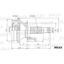 Шрус Hyundai Trajet 99-01 Нар.(Abs) Ga20173 Miles арт. GA20173