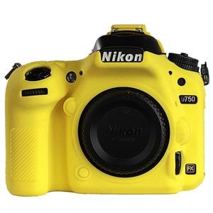 Image 5 - for Nikon D750 Cover Silicone Camera Case for Nikon D750 Camera Protector Cover High Grade Litchi Texture Non slip