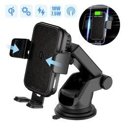 2 в 1 Быстрое беспроводное автомобильное зарядное устройство для Iphone XS samsung S10 QI 10 Вт Беспроводное зарядное устройство для автомобиля вентиля...