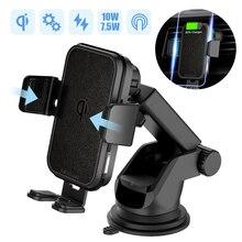 2 en 1 rapide chargeur de voiture sans fil pour Iphone XS Samsung S10 QI 10W chargeur sans fil voiture évent Dashbord support pour téléphone Mobile