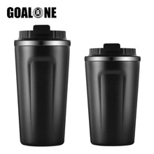 GOALONE 380/500ml Reusable Coffee Mug Double Wall Stainless Steel Tumbler with Leakproof Lid Travel thermo