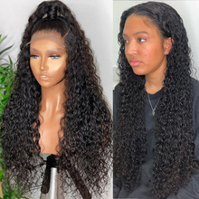 Water Wave Human Hair Wigs 360 Lace Frontal Wigs For Women Brazilian Natural Remy Wig Glueless Swiss Lace Wigs 150% Density