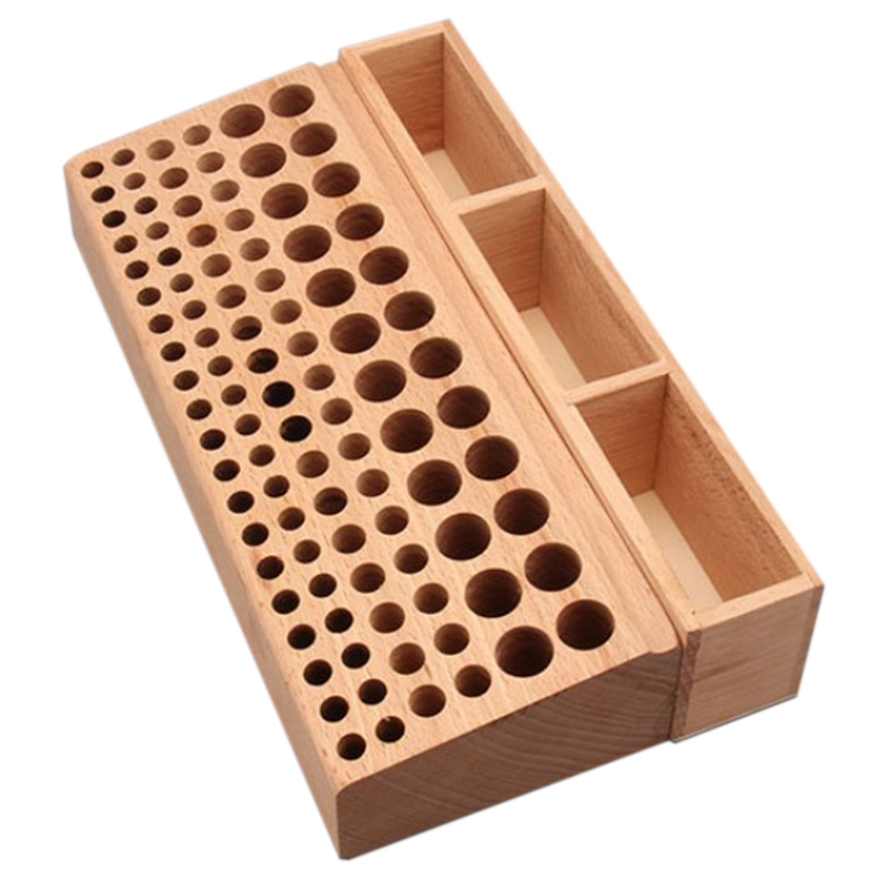 Rubber Wood Integrated Material Wood Leather Diy Tool/Woodworking Diy Tool Wooden Leathercraft Tools Rack Stand Leather Craft St