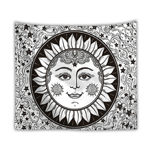 Sun Moon Wall Cloth Tapestries Mandala Indian Tapestry Hanging Hippie Pattern Printed Bedspread Beach Mat Home Decor