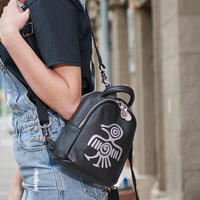 Orabird Brand Cute Vintage Multifunction Lady Mini Backpacks 100% Genuine Leather Small Backpack Women Casual City Crossbody Bag