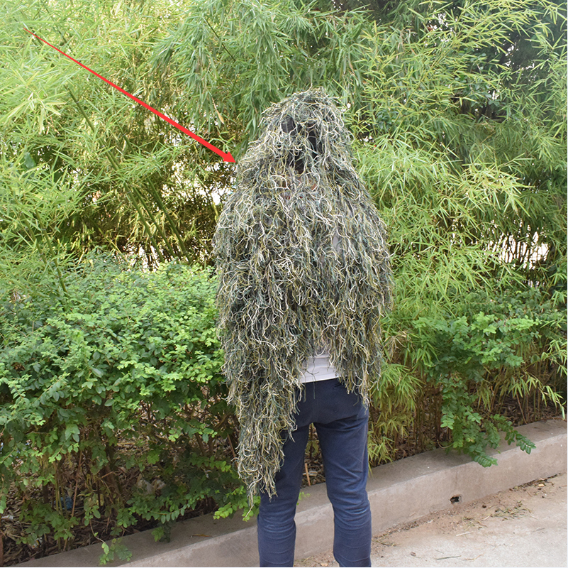 Durable Breathable Mesh Lining Jungle Camouflage Net Hunting Sniper Flapping Clothing Scouting Woodland HandMade Burlap Camo Net-in Blind & Tree Stand from Sports & Entertainment