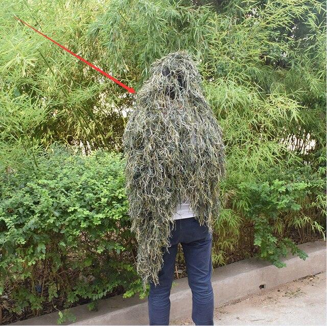 Ghillie takım elbise çöl dayanıklı nefes örgü astar avcılık kamuflaj keskin nişancı takım elbise İzcilik Woodland keskin nişancı seti kitleri