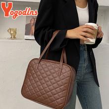 Yogodlns Vintage torebka w szkocką kratę dla kobiet PU torba ze skórzanym uchwytem duża pojemność Lady Tote prosta torebka damska torba na zakupy marki tanie tanio CN (pochodzenie) Na co dzień torebka WOMEN Versatile NONE Poliester Stałe SOFT Moda zipper Vintage Plaid Handbag PU Leather Handle Bag