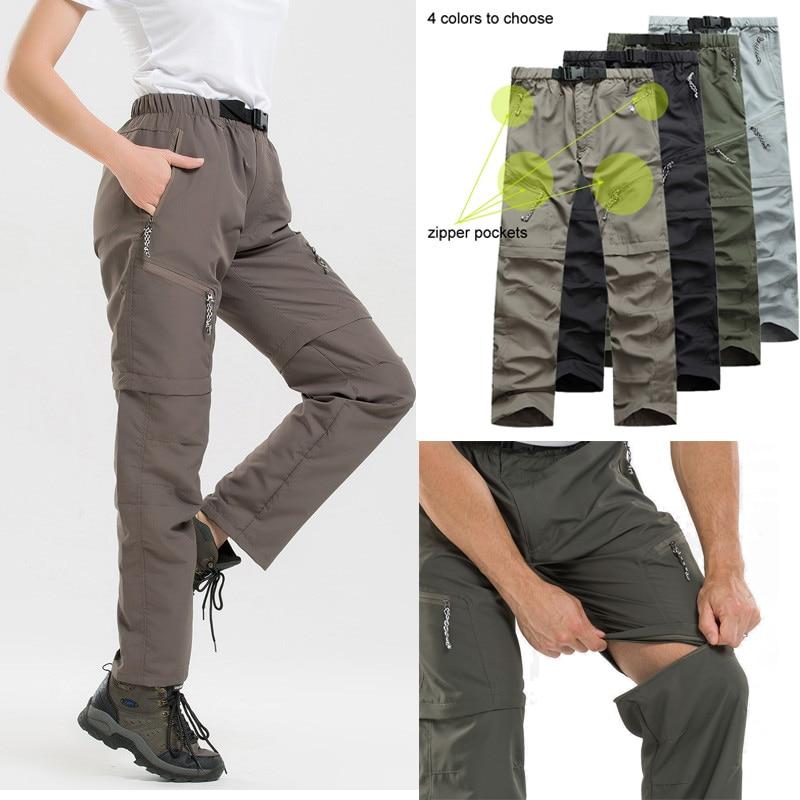Detachable Hiking Pants Women Men Winter Summer Quick Dry Trousers Men's Camping/Trekking/Outdoor Sport Waterproof Pants Shorts