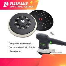 6 inç 150mm çok delikli toz ücretsiz yumuşak/sert zımpara zımpara taşıyıcı plaka parlatma taşlama için (1 paket)