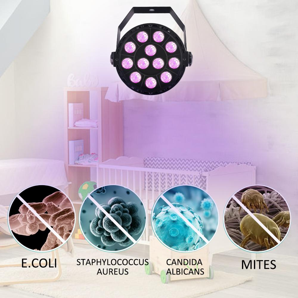 36W Disinfection UV Lamp Sterilization Germicidal Bacterial Disinfect Virus Mite Lights For Bedroom kitchen baby room Car