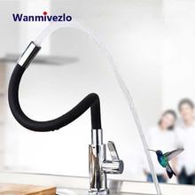 Siyah krom mutfak lavabo musluğu pirinç esnek kauçuk sıcak soğuk su musluk bataryası aşağı çekin rotasyon mutfak musluk Torneira Cozinha
