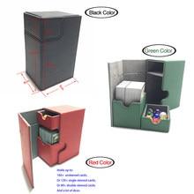 중형 카드 케이스 데크 박스 보드 게임 TCG 컨테이너: 블랙 레드 그린 컬러