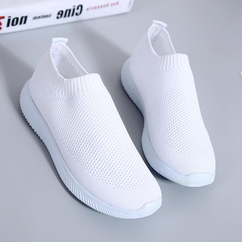 Women Summer Sneakers 2020 Slip On Knitting Flats Shoes Women Casual Lofers Ladies Trainers Fashion Footwear Mocassin Femme