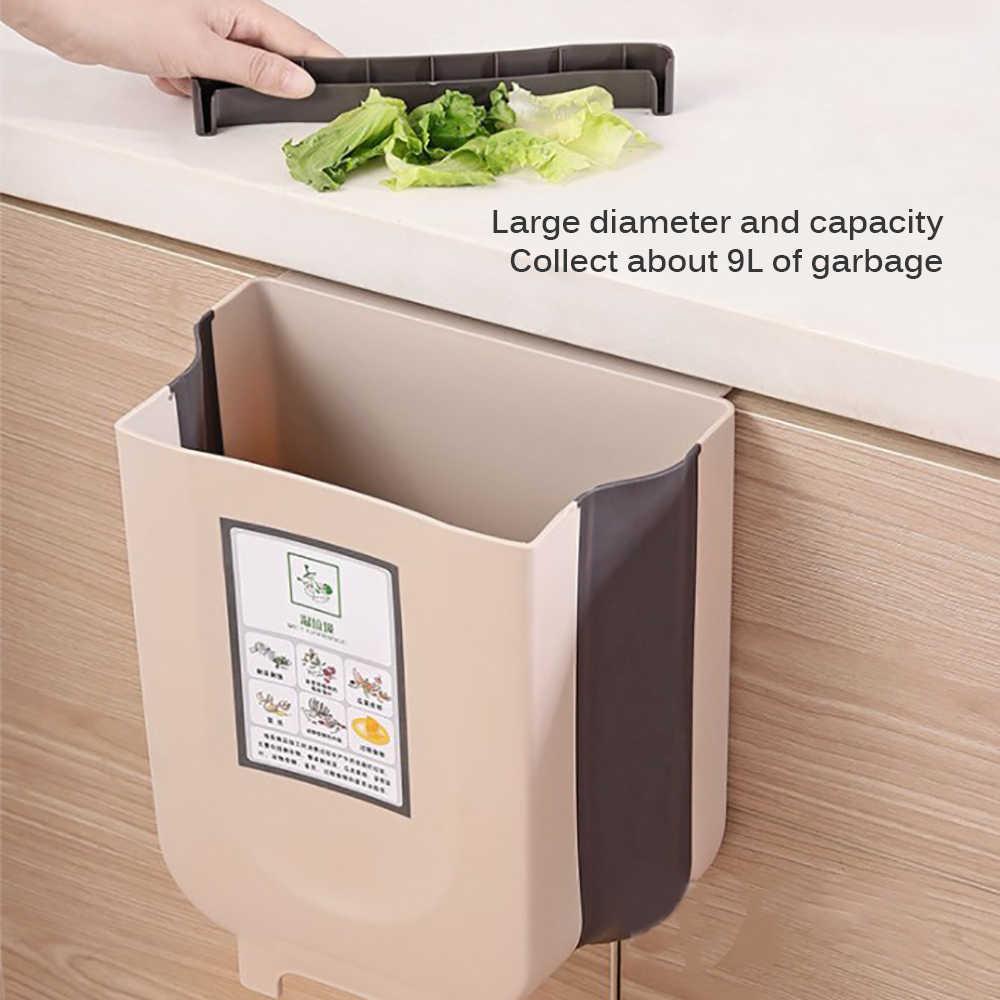 Folding Trash Can Kitchen Cabinet Door