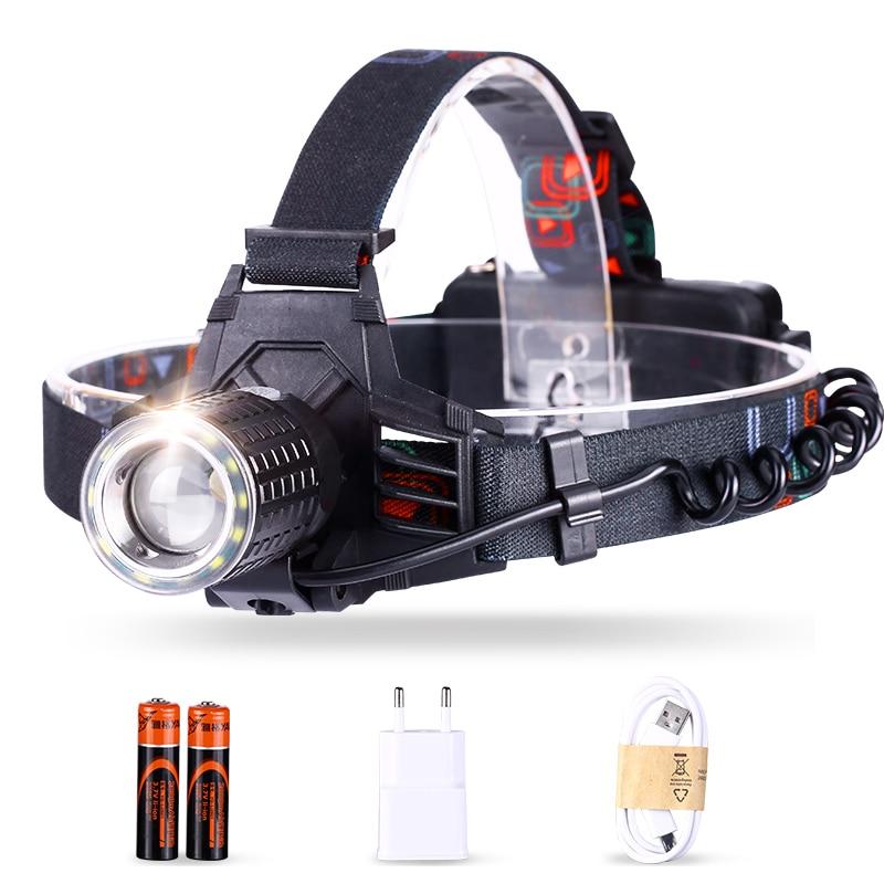YAGE YG-608C HeadLamp Touch USB LED Head Lampsuper Bright Headlamp Led Lintern Fishing Lanterna Headlamp Flashlight With 18650