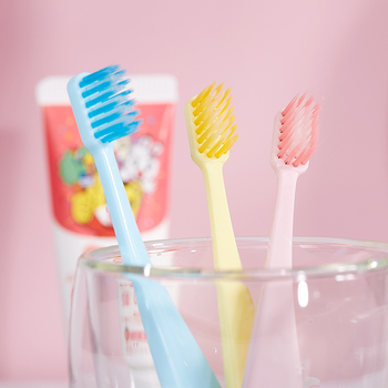 INBER Baby Soft-bristled Silicone Toothbrush For Children Teeth Cute Training Toothbrushes Dental Care ToothBrush