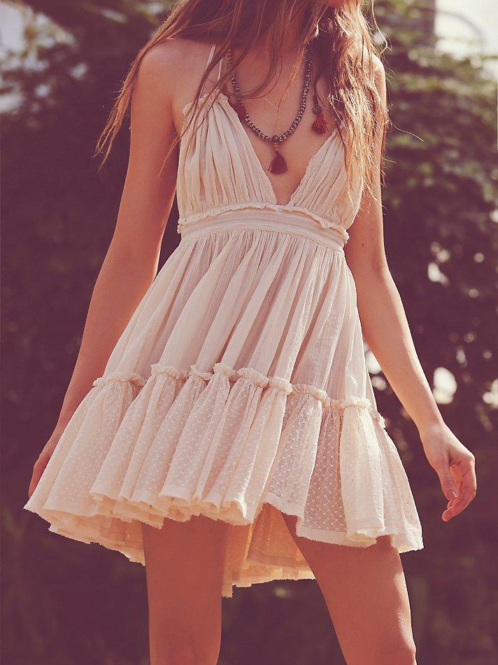 Women's Summer Halter Deep V Neck Sexy Patchwork Mini Short Dresses 1