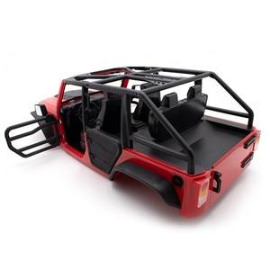 Image 2 - Передняя и задняя половинная дверь, трубчатые рельсовые двери для 1/10 осевого SCX10 II Jeep Wrangler Body RC Crawler, автомобильные запчасти, аксессуары