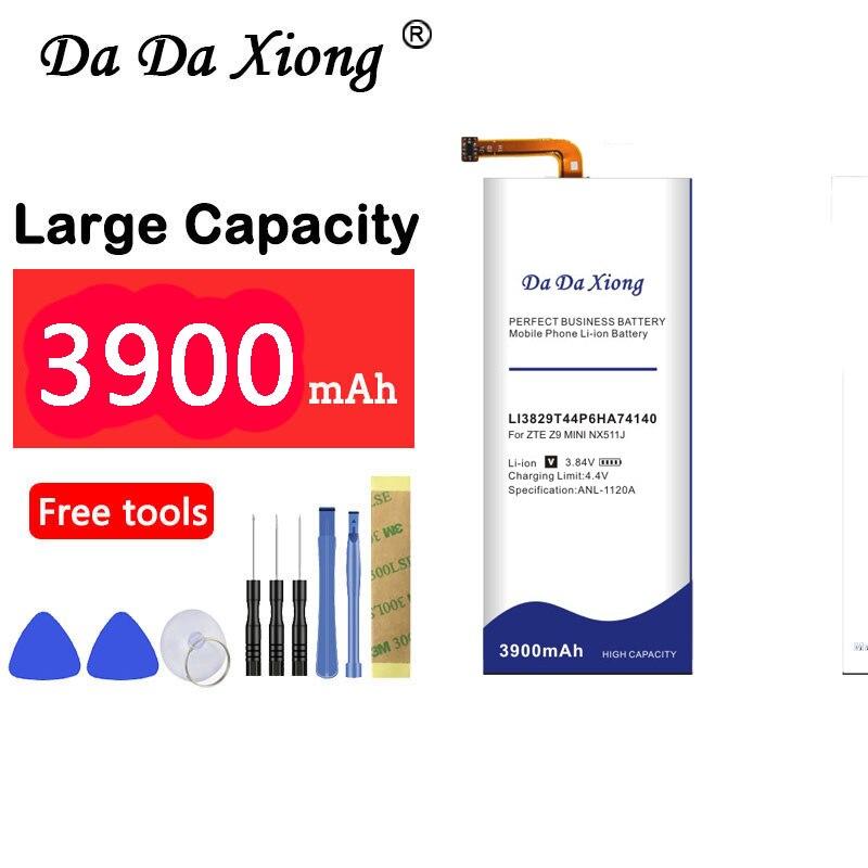 Batería 3900mAh Li3829T44P6HA74140 para ZTE Nubia Z7 Z9 NX508J NX510J NX511J Z9 Max Plus Z9 mini batería de teléfono celular
