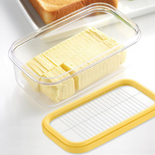 2 in 1 Butter Dish Butter Slicer Cutter with Sealed Lid Butter Keeper Cheese Container Food Storage Candy Box