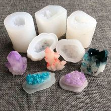 Epoxy Resin Mold-Pendant-Mold Jewelry-Making-Tools Geode Rock-Cluster Crystal Quartz