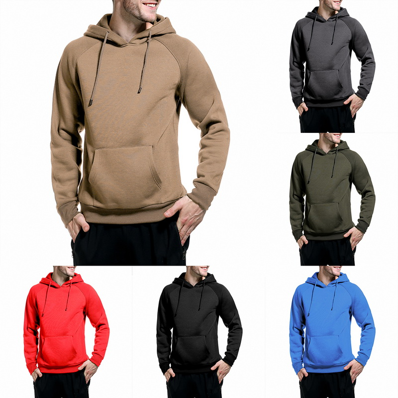 Drop shipping Adisputent Solid casual sports fashion hooded Men's Sweatshirts Men Hip Hop Streetwear Leisure loose