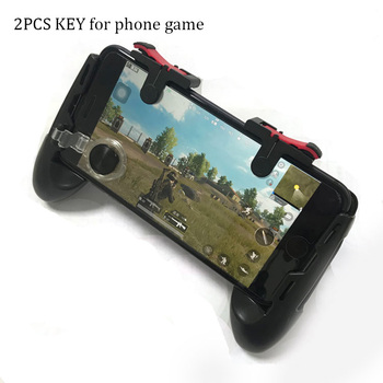 2PCS Moible Controller For PUBG Trigger Fire Button Aim L1 R1 Key L1R1 Shooter Controller For PUBG Mobile Phone Game Pad Grip image