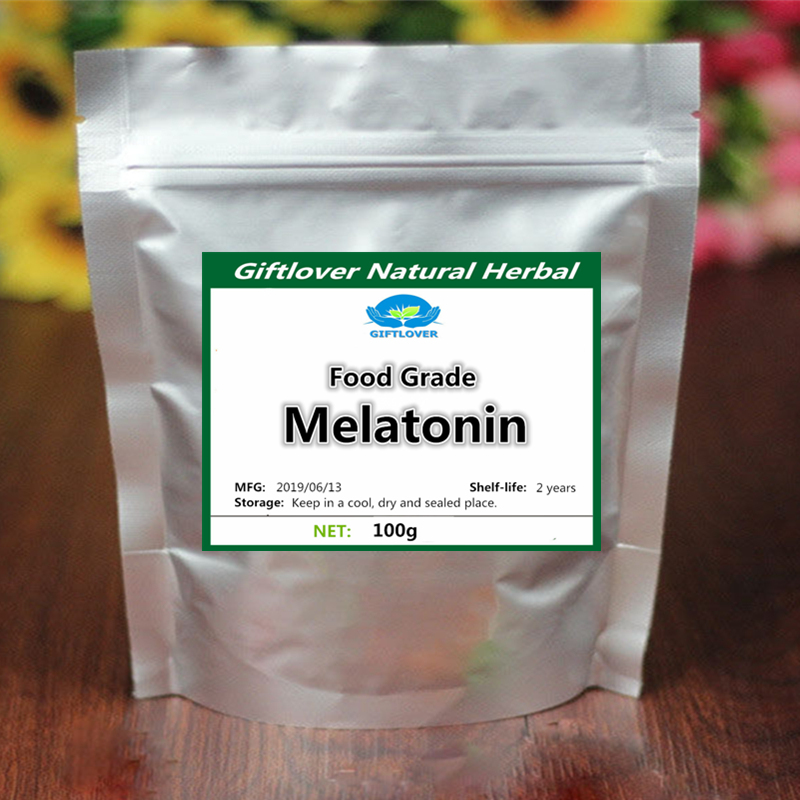 Improvement Sleep,Food Grade Pure 99% Melatonin Powder(MT,MLT),Regulate Hormones,Maintain the Body's Circadian Rhythm,ISO / GMP