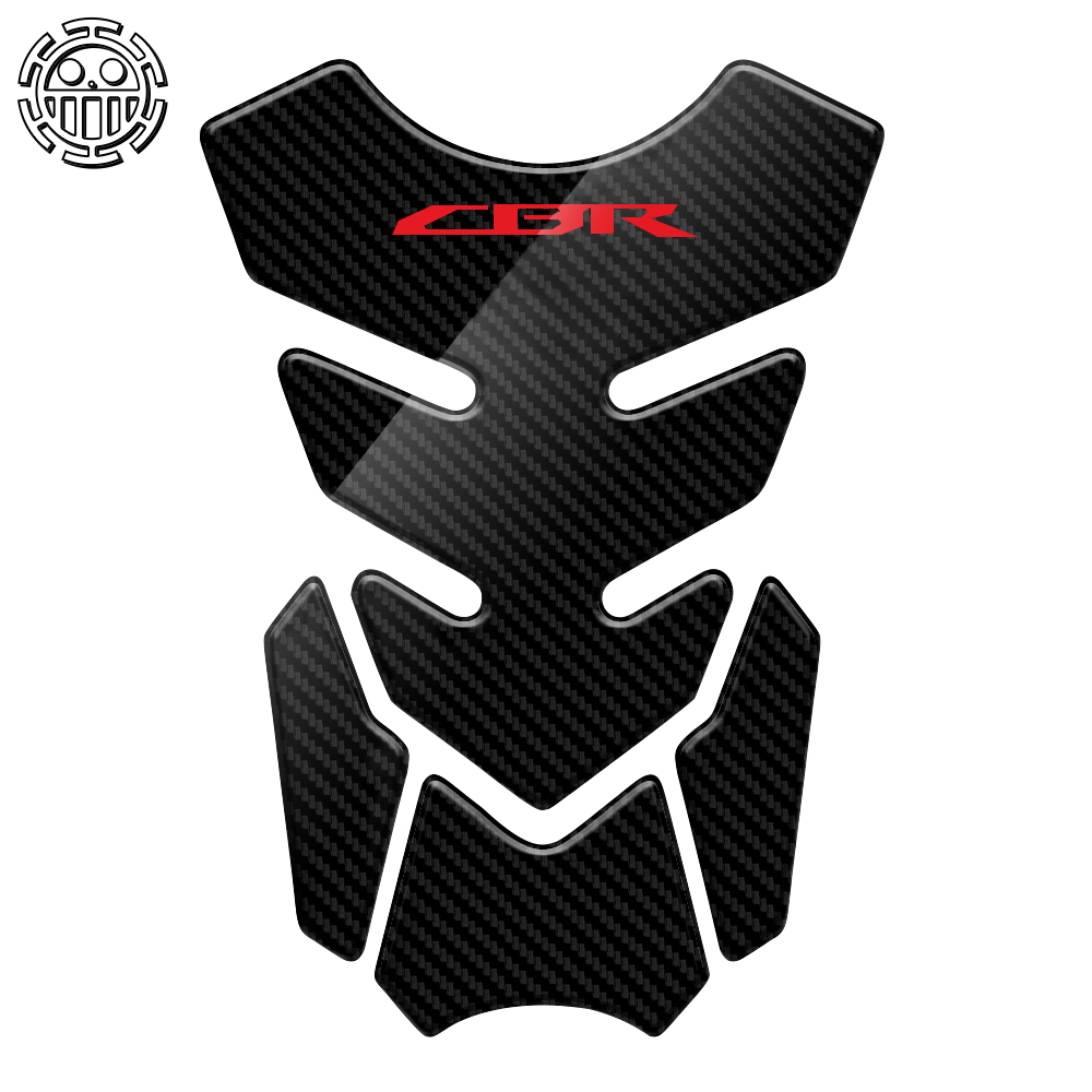 CBR Sticker Motorcycle Tank Pad Protector Decal Stickers Case for Honda CBR 400 600 900 <font><b>1000</b></font> RR 1100XX Tankpad 3D Carbon Look image