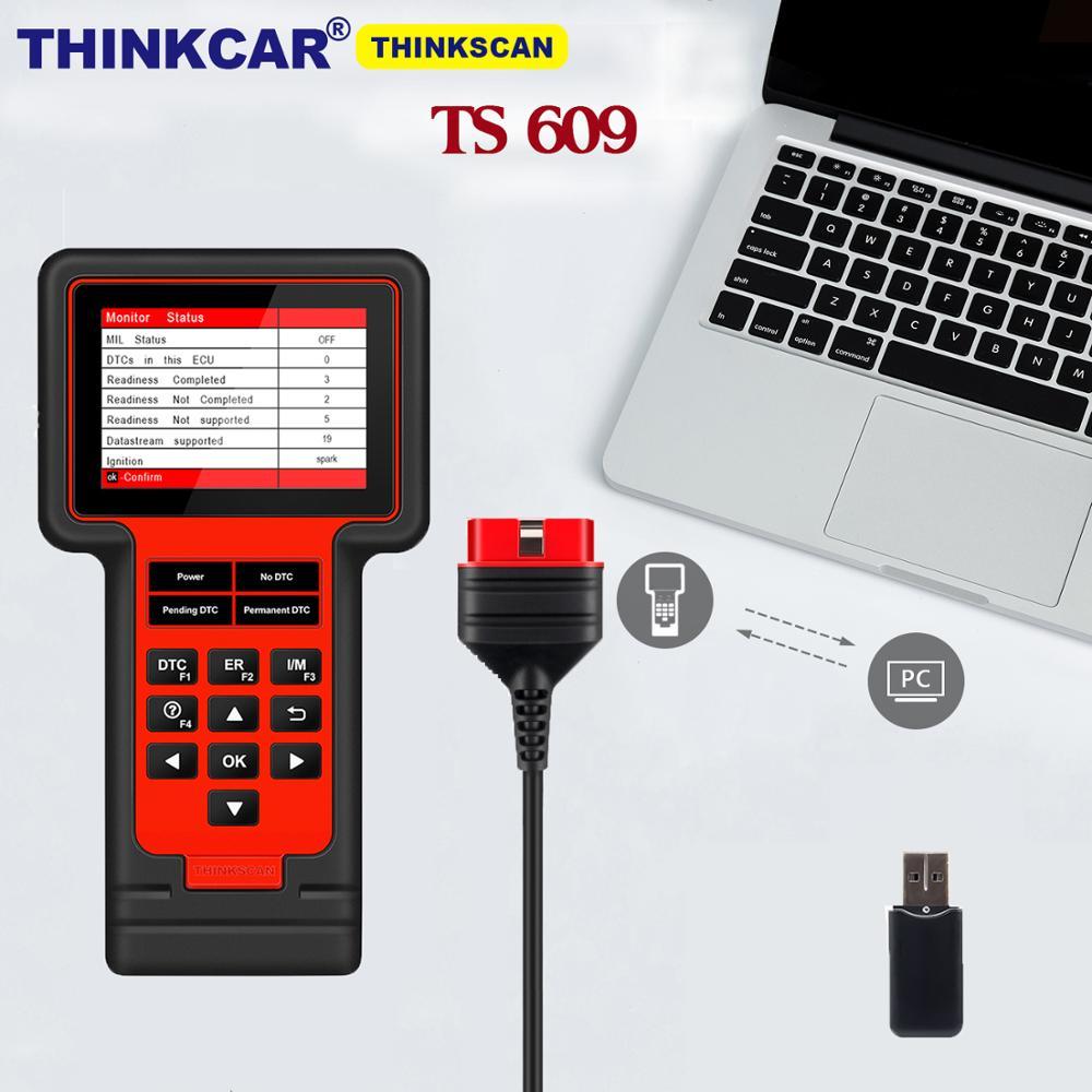 Thinkcar ThinkScan TS609 с 8 функциями сброса, профессиональный инструмент для диагностики коробки передач двигателя ABS SRS, считыватель кодов функций ...