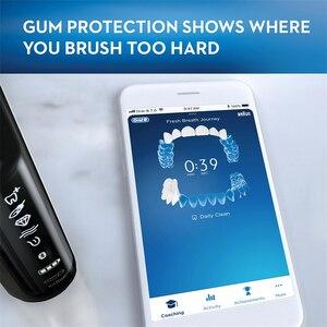 Image 4 - Oral B 9000 Spazzolino Da Denti Elettrico Bluetooth Tecnologia di Rilevamento della Posizione 6 Modalità di 12 Colori SmartRing Superiore Spazzolino Da Denti Pulito
