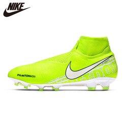 Original Nike PHANTOM VSN ELITE DF FG Football Shoes New Soccer Shoes High Cut