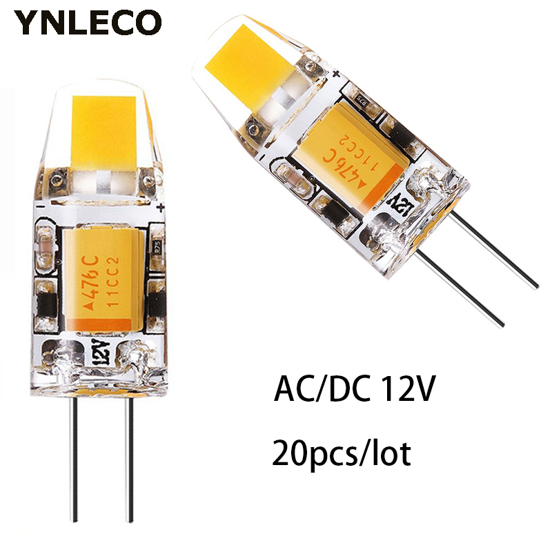 20pcs Mini <font><b>G4</b></font> COB <font><b>LED</b></font> Bulb <font><b>12V</b></font> AC DC <font><b>1W</b></font> <font><b>LED</b></font> <font><b>G4</b></font> Lamp Lampadas Light High Quality Bulbs Replace 10W Halogen Lamp 360 Beam Angle image