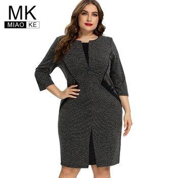 2020 autumn womens Plus Size Vintage Dress fashion Ladies elegant dresses 4XL 5XL 6XL - discount item  40% OFF Dresses