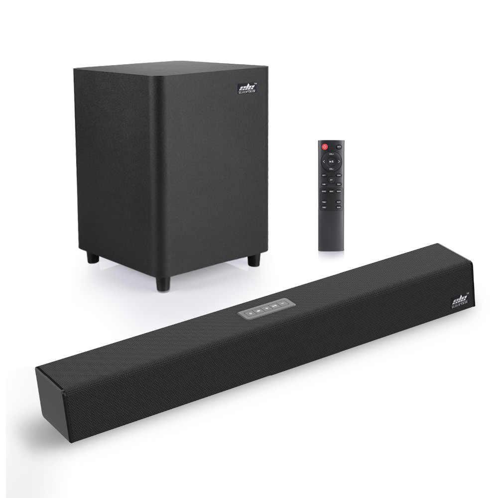 100W TV SoundBar 2.1 Bluetooth hoparlör 5.0 ev sinema sistemi 3D Surround  ses çubuğu uzaktan kumanda ile TV için Subwoofer|Soundbar