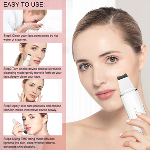 Image 5 - ANLAN Ultrasonic Skin Scrubber Face Cleanser Blackhead Acne Removal Facial Spa Vibration Massager Ultrasound Water Peeling Tools