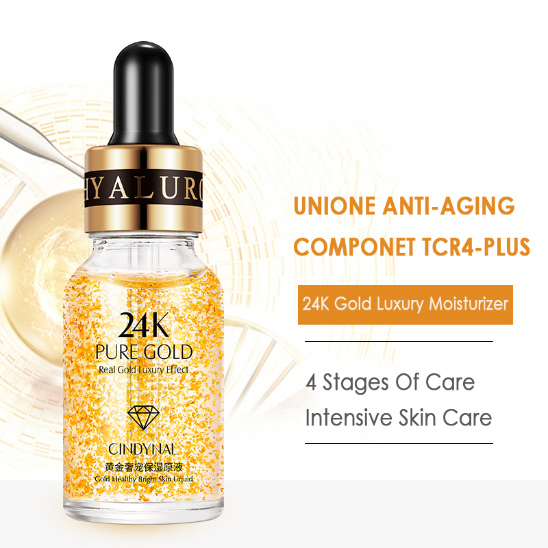 24k Gold Skin Lightening Serum Cindynal Moisturizing Anti-wrinkle Oil-control Essence Skin Anti-aging TSLM2