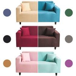 Capa de sofá de veludo elástico chaise sala estar 1 2 3 4 seater ajustável capa protetora com braço descanso