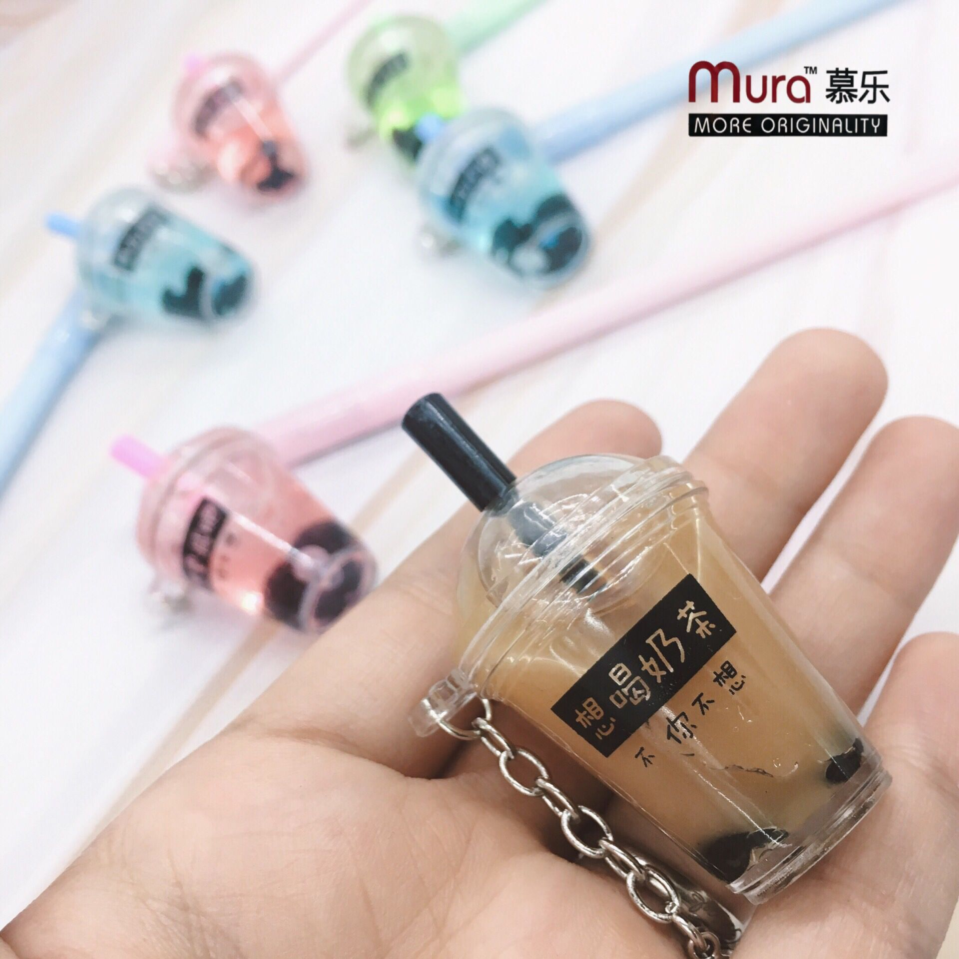 1pcs Gel Pens Kawai Pendant Coffee Cup Black Gel-ink Pen Student Pens For Writing Cute Stationery Office School Supplies 0.5mm
