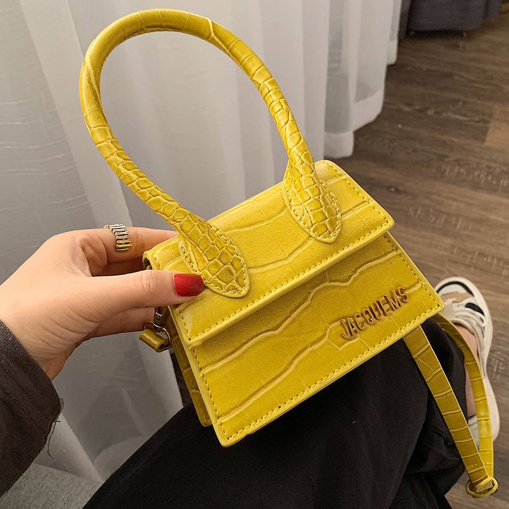 Mini Saqure Bag For Women 2020 New Luxury Crocodile Ladies Handbag Women Bags Famous Designer PU Leather Shoulder Messenger Bag