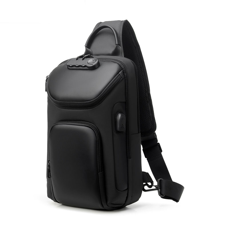 Men Backpack Sling Bag Crossbody Backpack Shoulder Daypack Rucksack for Men USB Anti-Theft Men'S Chest Bag
