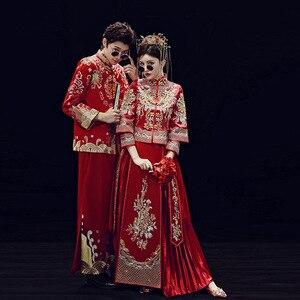 Image 5 - 2019 קידום אונליין שושבינה כלה החדש 2020 שיה פאן Jinxiu Longfeng הקיים חתונה תלבושות בסגנון סיני להינשא