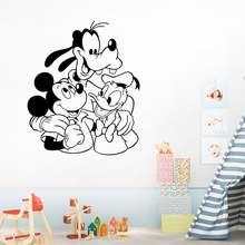 Дисней Микки Маус и Дональд Дак Гуфи наклейки на стену для детской