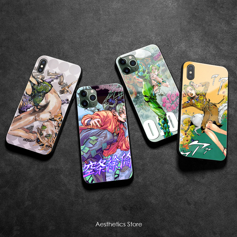 Jolyne Cujoh JOJO Part 6 Stone Ocean soft Silicone Glass Phone Case Cover Shell for iPhone SE 6 6s 7 8 Plus X XR XS 11 Pro Max image