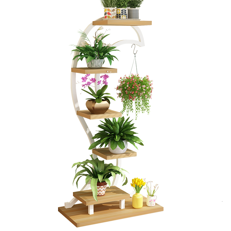 Art Flower Rack Chlorophytum Balcony Multi-storey Meaty Flower Airs A Living Room Indoor  Flowerpot Frame