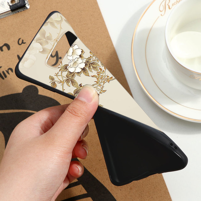 3D Flower Emboss Relief Case For Samsung Galaxy S20 Ultra A71 A51 A50 A70 S8 S10 S10e S9 Plus A10 A10e A30 A40 A20e TPU Capa Bag