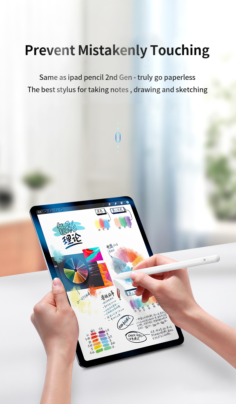 Touch Pencil for Apple for iPad Pencil Stylus Pen for iPad Pro <font><b>11</b></font> 2020 Pencil Pro 12.9 / 9.7 2018 2019 with Palm Rejection image