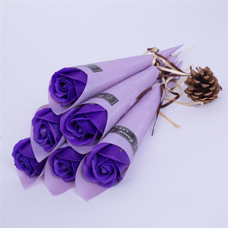 Мыло цветок розы искусственный цветок букет многоцветная Роза свадебный цветок украшение Скрапбукинг искусственный цветок Роза